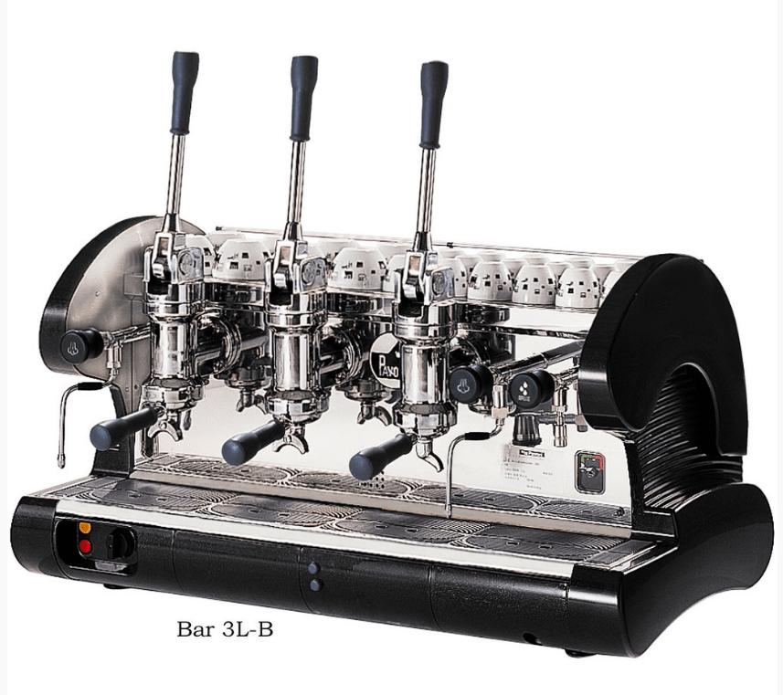 La Pavoni 3 Group Commercial Lever Espresso Machine BAR BAR 3L-B