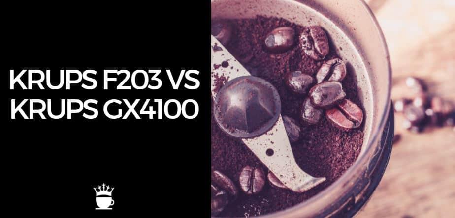 Krups F203 vs Krups GX4100